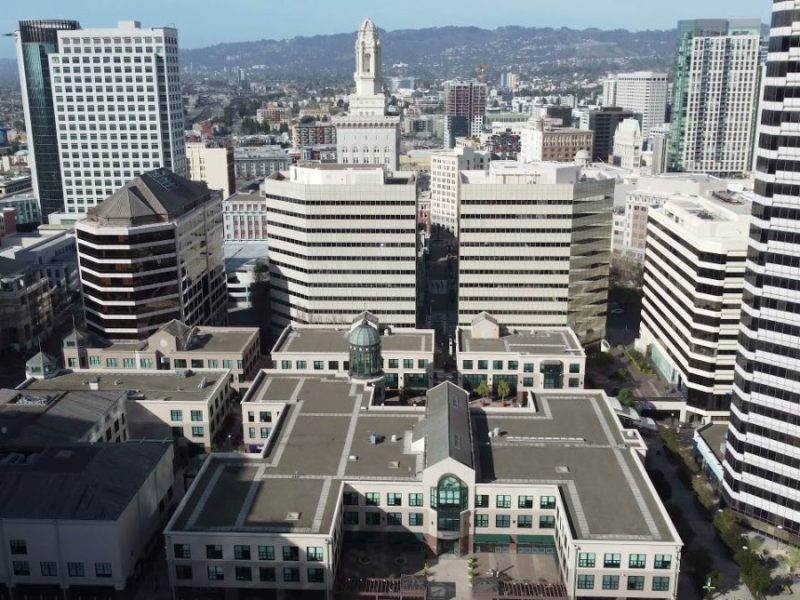 Drone Aerial Footage Of Downtown Oakland, City Center, Using The DJI MINI