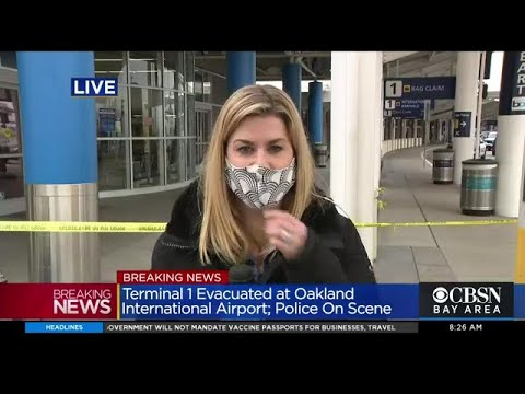 OAKLAND AIRPORT STANDOFF (8:55 a.m.): Standoff continues at Oakland International Airport; Terminal