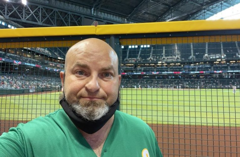 Oakland Athletics at Arizona Diamondbacks at Chase Field in Phoenix by Richard Haick