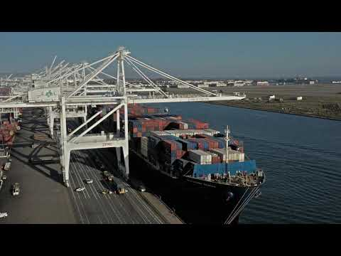 Port of Oakland Drone Flight 4K