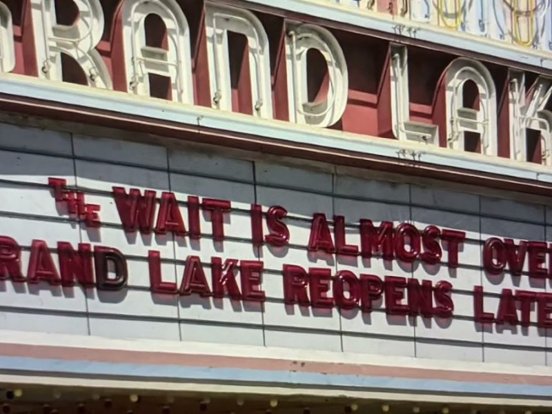 Grand Lake Theater Marquee In Oakland Says Wait Almost Over, Reopens Late May 2021