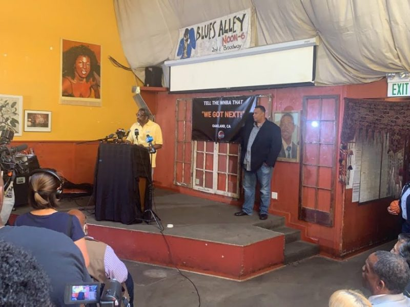 AASEG And WNBA Press Conference Oakland At Everett And Jones BBQ By Vasu Vaddiparty