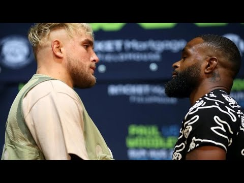 Boxing Jake Paul Tryon Woodley Heated Pre-Fight Press Conference By Eric Pangilinan