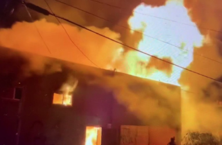 Oakland Firefighters Respond To Fire At 42nd And Telegraph Avenue 3 AM July 5th 2021