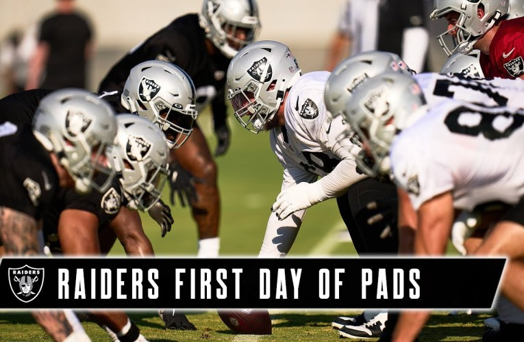 Best Highlights and Sounds From the First Padded Practice of 2021 Training Camp | Las Vegas Raiders