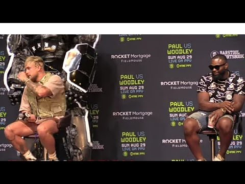 Boxing Jake Paul Tyron Woodley Agree Who Ever Wins Their Fight Get A Tattoo By Eric Pangilinan