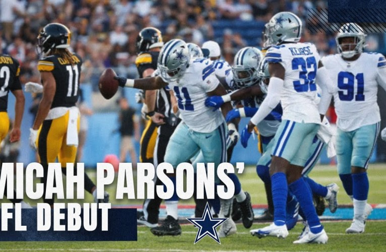 Every Play in Micah Parsons' NFL Debut | 2021 Hall of Fame