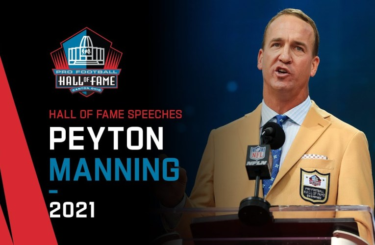 Peyton Manning Full Hall of Fame Speech | 2021 Pro Football Hall of Fame | NFL