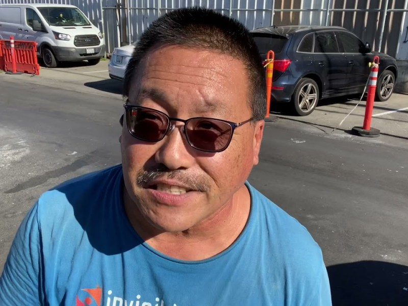 I was hit COVID Delta in East Oakland Homeless Encampment by Derrick Soo