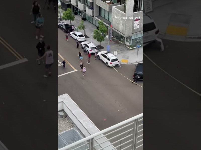Little Italy – Standoff ends with man almost hitting pedestrians