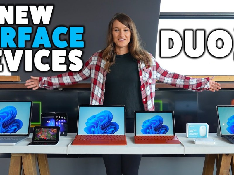 NEW Microsoft Surface Devices – Duo 2 and Laptop Studio!