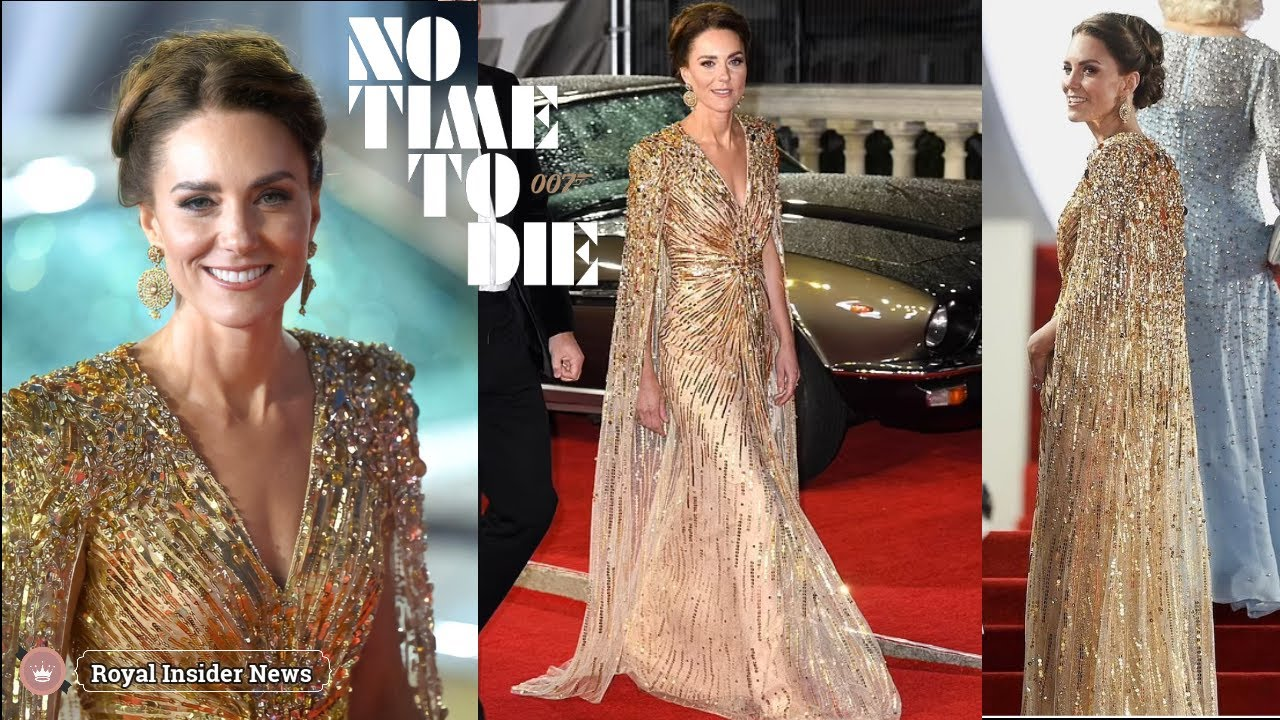 Royal Fashion – Duchess of Cambridge Dazzles with James Bond at No Time to Die Premiere - Blog