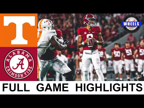 #4 Alabama vs Tennessee Highlights | College Football Week 8 | 2021 College Football Highlights