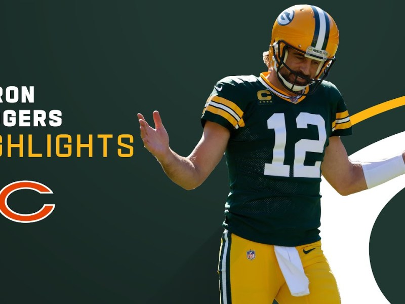 Aaron Rodgers' Best Plays from 3-TD Game vs. Bears   NFL 2021 Highlights
