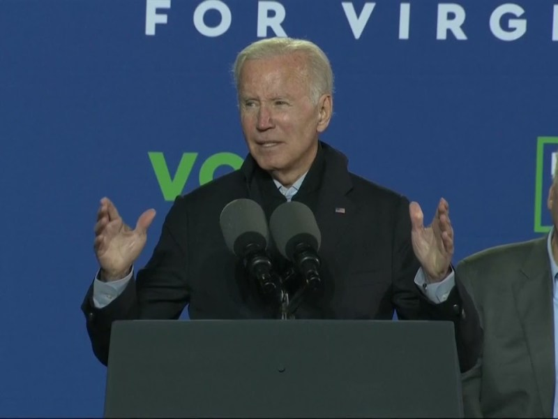 Biden Says Today's Republicans 'Stand for Nothing' While Campaigning in Virginia