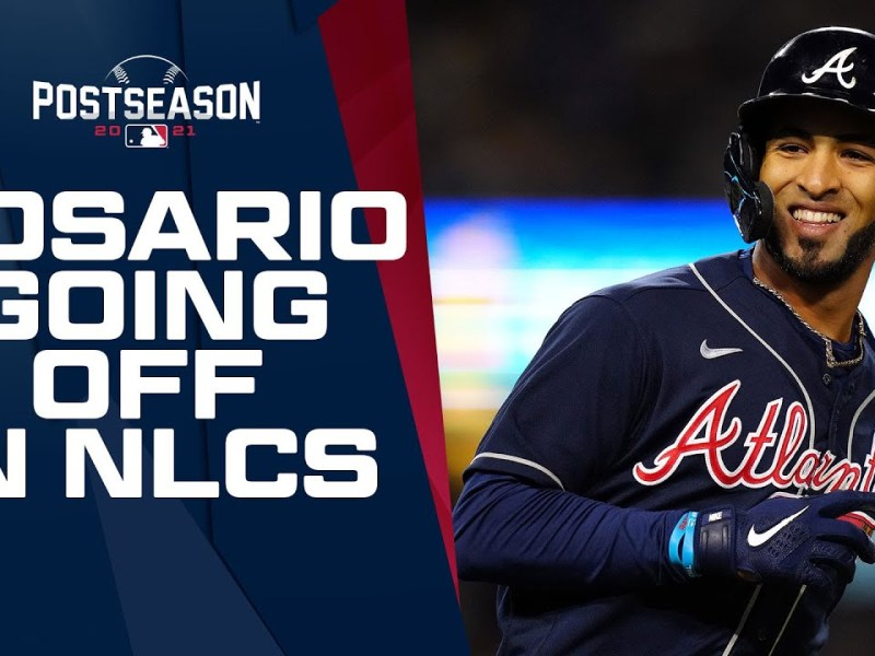 Braves' Eddie Rosario GOING OFF in NLCS!! (.588 average, 10 hits, 2 home runs, 6 RBIs)