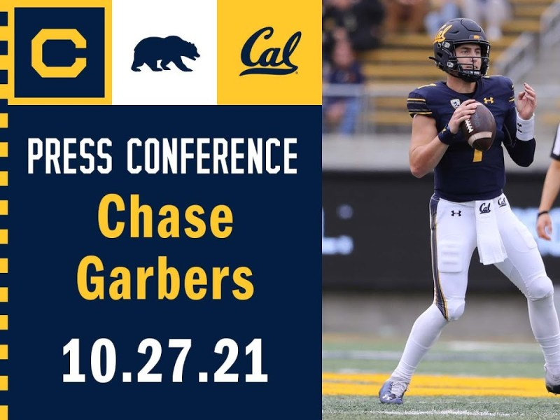 Cal Football: Chase Garbers Press Conference (10.27.21)