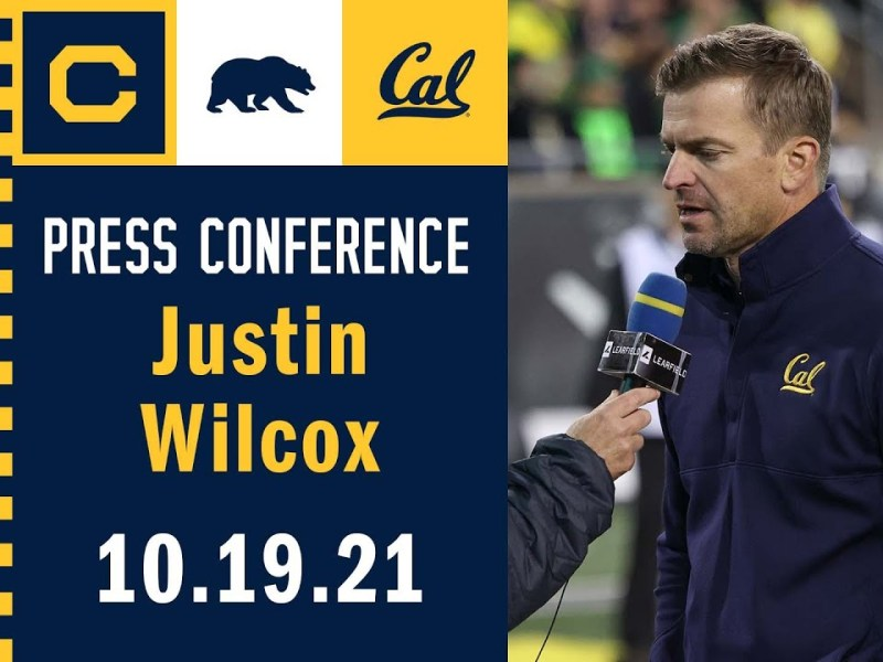 Cal Football: Justin Wilcox Press Conference (10.19.21)