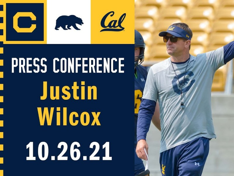 Cal Football: Justin Wilcox Press Conference (10.26.21)