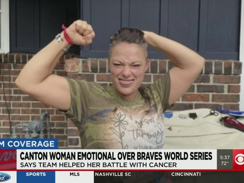 Canton woman says Braves World Series is the light she needed after battling cancer
