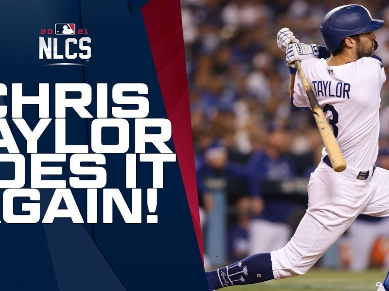 Chris Taylor launched his SECOND HR of the night to extend the Dodgers' lead!
