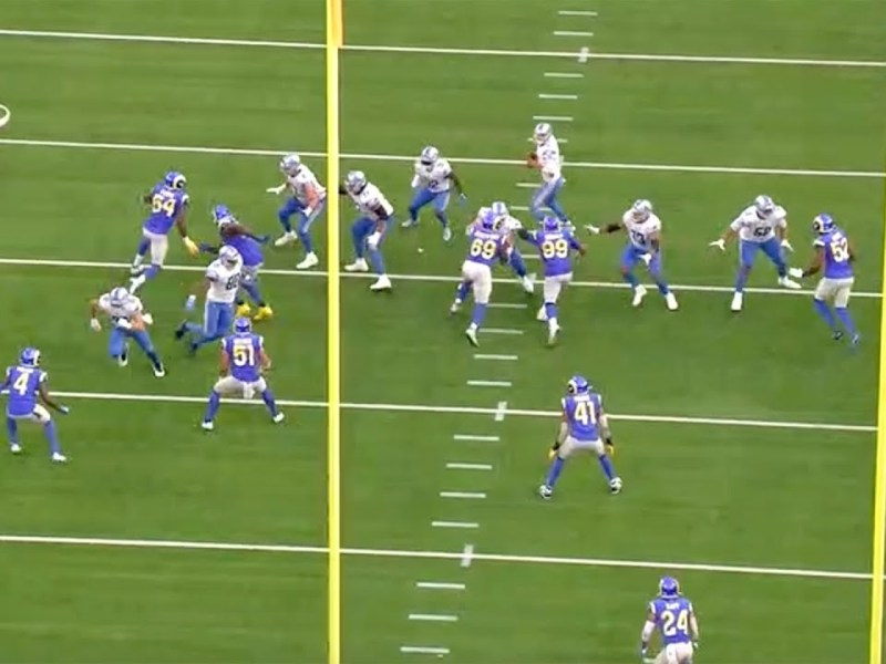 """D'Marco Farr Takes A Look At """"Superman"""" Rams CB Jalen Ramsey's Interception vs. Lions 