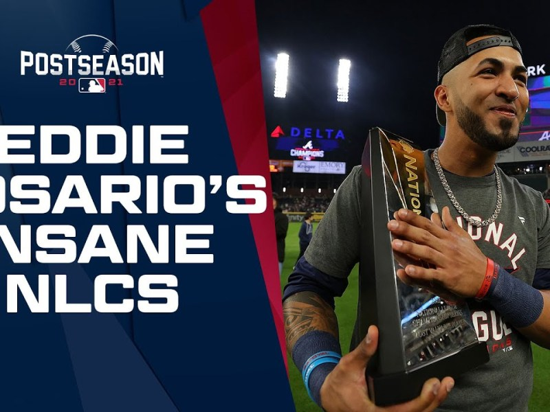 Eddie Rosario has series for the AGES!!! Braves OF goes off for 14 hits, 3 HRs and 9 RBIs!