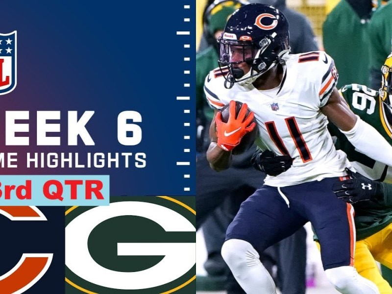 Green Bay Packers vs Chicago Bears Highlights 3rd-Qtr | Week 6 NFL October 17,2021