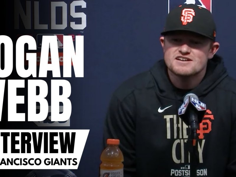 Logan Webb Previews SF Giants vs. LA Dodgers Series & Details Emotions of First Playoff Start