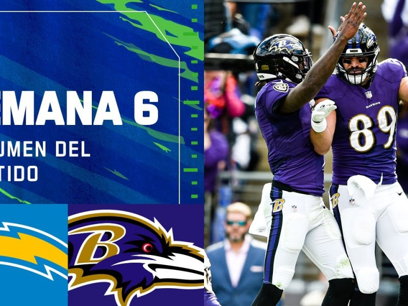 Los Angeles CHARGERS vs Baltimore RAVENS | Semana 6 2021 NFL Game Highlights