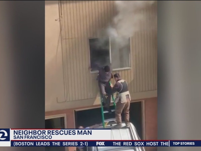 Neighbor rescues man from burning home in San Francisco