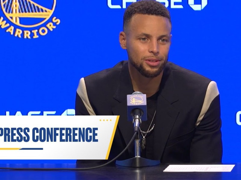Stephen Curry Talks His 45-Point Performance & Being Named to NBA 75 List   Oct. 21, 2021