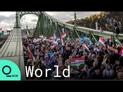 Thousands of Orban Supporters Rally In Budapest