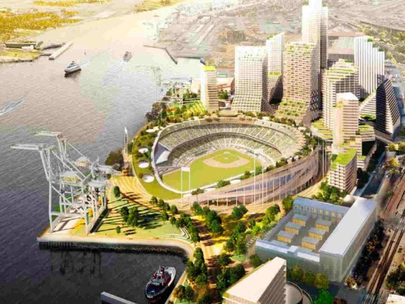 While LA Dodgers Spoil SF Giants MLB Playoffs Party, Oakland Gets Idea Of A's At Howard Terminal
