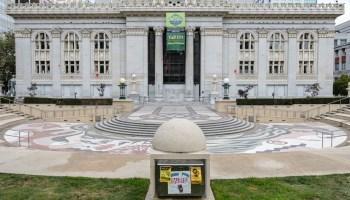 City Hall and Frank Ogawa Plaza.