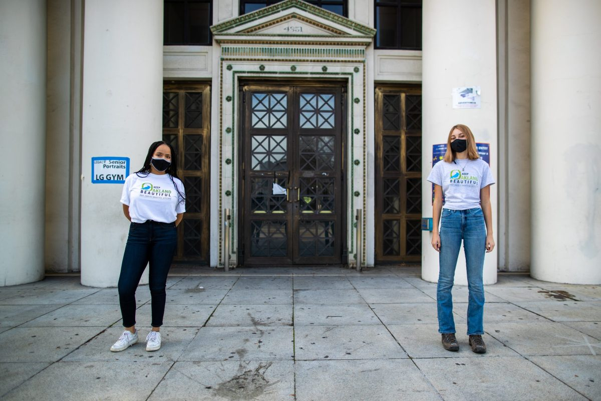 Portraits of High school students Tiara Wilkerson and Cali Carson of the Keep Oakland Beautiful Youth Advisory.