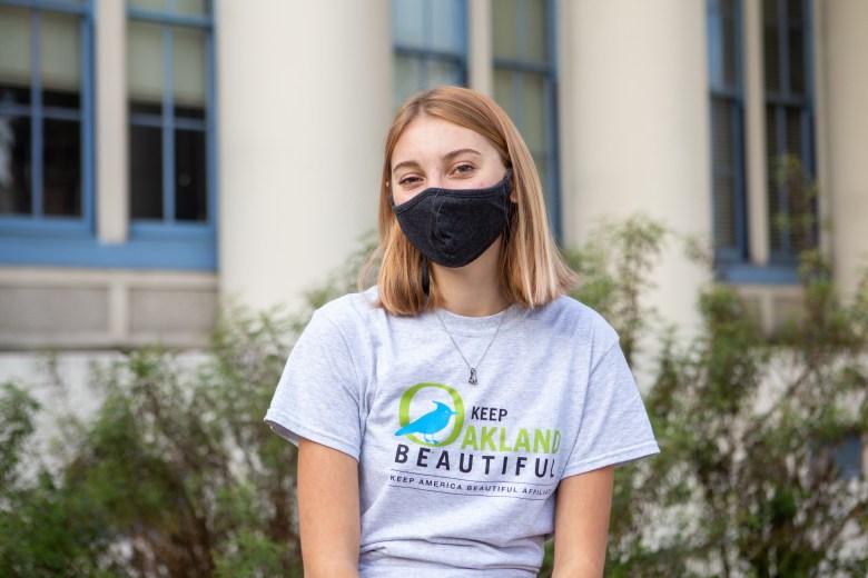 Portraits of High school student Cali Carson of the Keep Oakland Beautiful Youth Advisory.