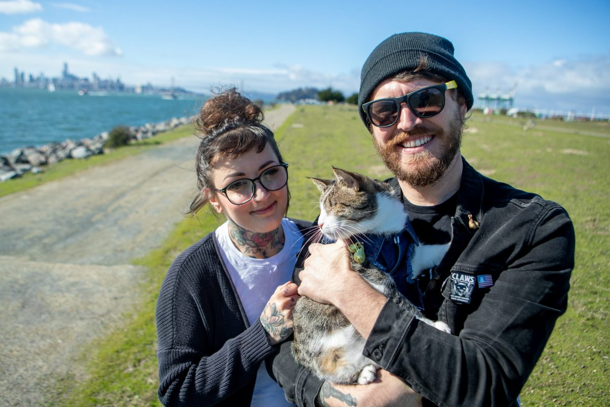Adam and Erica, cat owners and West Oakland residents