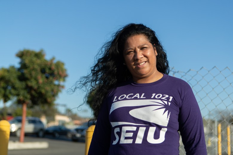 Kaveinga Reyes, a frontline health care worker at the Alameda Health System's Eastmont Wellness Center.