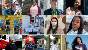 Photos of 12 Oaklanders who shared their stories of living through a year of COVID-19