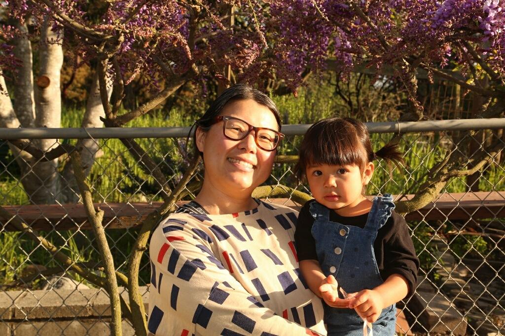 Umami Mart co-founder Kayoko Akabori with daughter Mion. Credit: courtesy of Kayoko Akabori