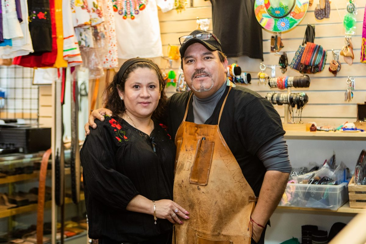Rigoberto and Guadalupe Murillo inside of Adalynn's Fiesta Latina, their shop in Fruitvale.