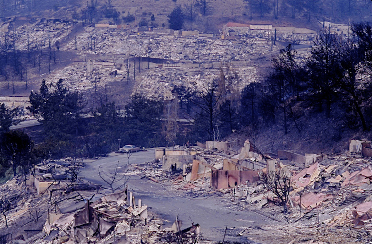 The 1991 Oakland-Berkeley firestorm wiped out swaths of the East Bay hills.