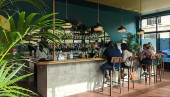 The bar at Low Bar in Uptown Oakland. Credit: Lauren Bonney
