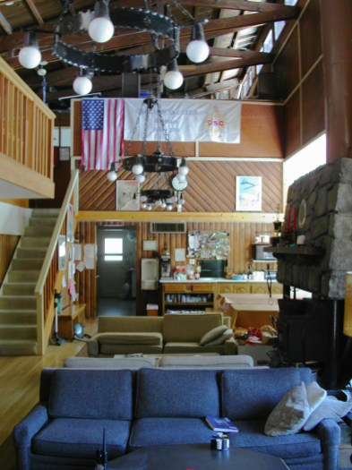 The lounge at the Oakland ski club