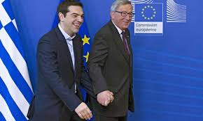 Alexis Tsipras (l.) with Jean-Claude Juncker (r.)