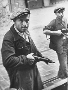 Jewish fighters in the Warsaw Ghetto.