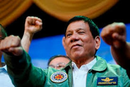 Newly elected Philippine President Rodrigo Duterte. He threatens to kill 2 million drug addicts and dealers.
