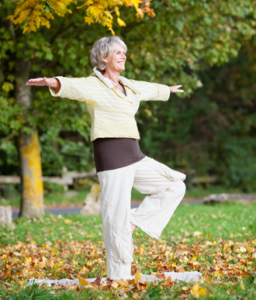 Senior Woman Doing Tai Chi - 2