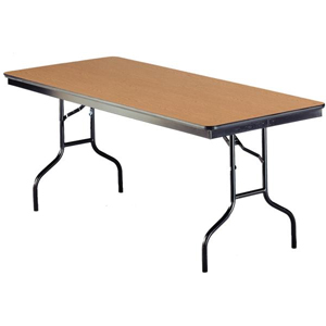 6u0027 rectangular wood folding banquet table